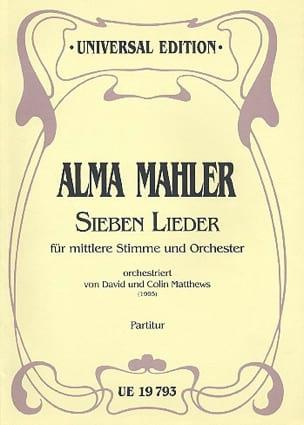 Sieben Lieder für mittlere Stimme und Orch. - Partitur - laflutedepan.com
