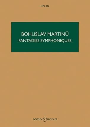 Bohuslav Martinu - Fantaisies Symphoniques, Symphonie N° 6 - Partition - di-arezzo.fr
