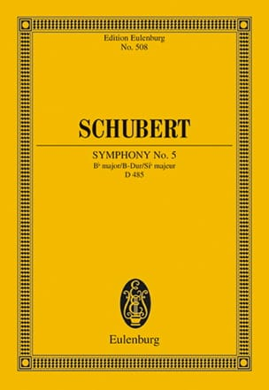SCHUBERT - Symphony Nr. 5 B-Dur - Conductor - Sheet Music - di-arezzo.co.uk