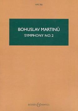 Bohuslav Martinu - Symphonie n° 2 1943 - Score - Partition - di-arezzo.fr