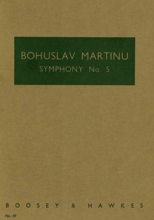 Symphonie n° 5 MARTINU Partition Petit format - laflutedepan