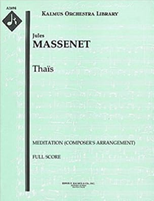 Jules Massenet - Thais, Meditation - Score - Sheet Music - di-arezzo.co.uk