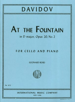 Charles Davidoff - At The Fountain in D Major op. 20 n° 2 - Partition - di-arezzo.fr