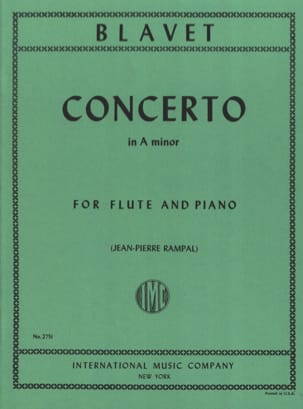 Michel Blavet - Concerto in A minor - Flute piano - Partition - di-arezzo.fr