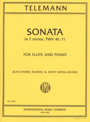 TELEMANN - Sonata in F minor - Flute piano - Sheet Music - di-arezzo.com