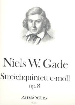 Niels Wilhelm Gade - Streichquintett e-moll op. 8 –Stimmen - Partition - di-arezzo.fr
