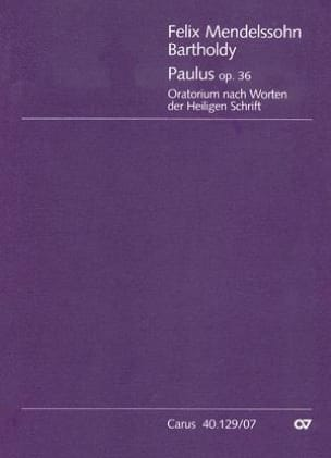 MENDELSSOHN - Paulus op. 36 - Partitur - Sheet Music - di-arezzo.co.uk