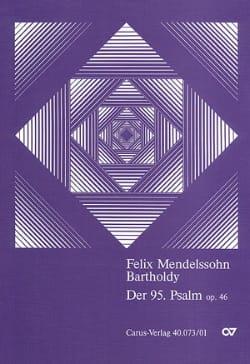 MENDELSSOHN - Psalm 95, op. 46 - Partitur - Partition - di-arezzo.fr