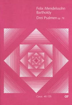 MENDELSSOHN - 3 Psalmen op. 78 - Partitur - Partition - di-arezzo.fr
