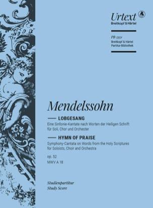 MENDELSSOHN - Lobgesang op. 52 - Partition - di-arezzo.fr
