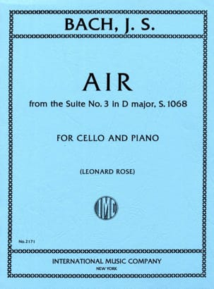 BACH - Air from the Suite No. 3 in D Major - Sheet Music - di-arezzo.co.uk