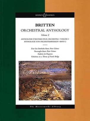 Benjamin Britten - Orchestral Anthology - Volume 2 - Partition - di-arezzo.fr