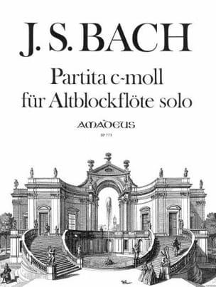 BACH - Partita C-Moll BWV 1013 - Altblockflöte Solo - Partition - di-arezzo.fr