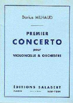 Darius Milhaud - Concerto n° 1 pour violoncelle - Partition - di-arezzo.fr