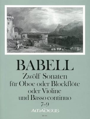 William Babell - 12 Sonates Volume 3 - 7 A 9 - Hautbois et Bc - Partition - di-arezzo.fr