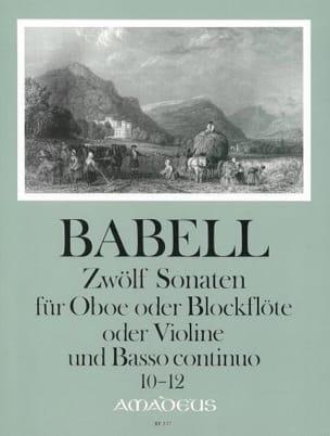 12 Sonates Volume 4 - 10 A 12 - Hautbois et Bc laflutedepan