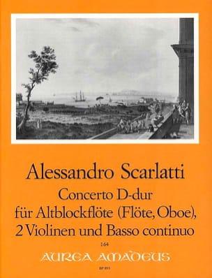 Alessandro Scarlatti - Concerto D-Dur -Altblockflöte 2 Violinen BC - Partition - di-arezzo.fr