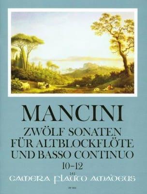 Francesco Mancini - 12 Sonaten - Nr. 10-12 - Altblockflöte u. Bc - Sheet Music - di-arezzo.com
