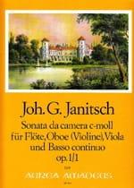 Johann Gottlieb Janitsch - Sonata da Camera c-moll op. 1 Nr. 1 – Flöte Oboe Viola BC - Partition - di-arezzo.fr