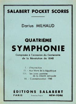 Symphonie n° 4 - Conducteur MILHAUD Partition laflutedepan