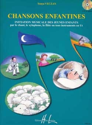 Chansons enfantines Sonya Veczan Partition Solfèges - laflutedepan