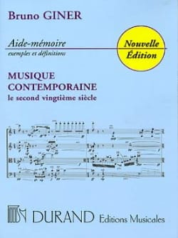 Bruno Giner - Contemporary Music Aide-Mémoire - Book - di-arezzo.com