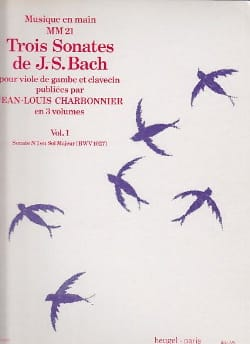 BACH - 3 Sonatas Volume 1 - Sonata No. 1 In G Major Bwv 1027 - Sheet Music - di-arezzo.com