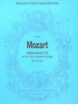MOZART - Missa brevis B-Dur KV 275 - Partitur - Partition - di-arezzo.fr