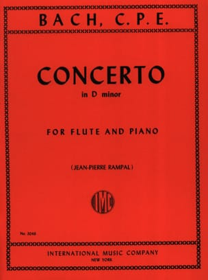 Carl Philipp Emanuel Bach - Concerto In D Minor - Flute Piano - Partition - di-arezzo.fr