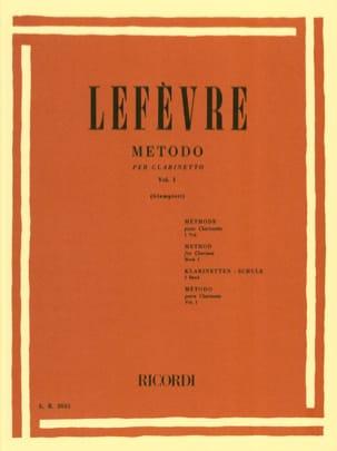 Xavier Lefèvre - Metodo Per Clarinetto Volume 1 - Partition - di-arezzo.fr