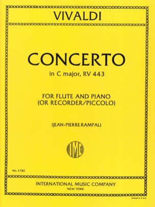 VIVALDI - Concerto in C Major RV 443 F. 6 n ° 4 - Piccolo piano - Sheet Music - di-arezzo.co.uk