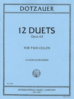 Friedrich Dotzauer - 12 Duets op. 63 - Partition - di-arezzo.fr