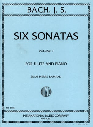 BACH - 6 Sonatas - Volume 1 - Piano Flute - Sheet Music - di-arezzo.co.uk