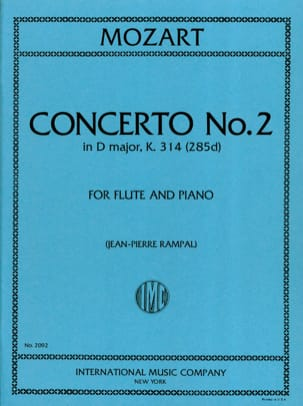 MOZART - Concerto n° 2 in D major KV 314 - Flute piano - Partition - di-arezzo.fr