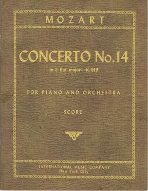 Concerto for piano n° 14 E flat maj. KV 449 – Score - laflutedepan.com