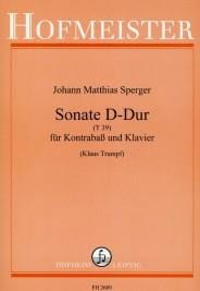 Johann Matthias Sperger - Sonata D-Dur T 39 - Partition - di-arezzo.co.uk