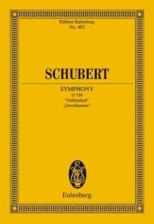 SCHUBERT - Symphonie N° 7 H-Moll - Partition - di-arezzo.fr