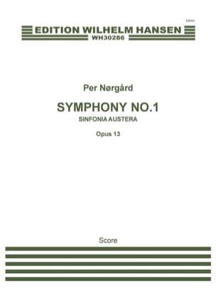 Symphonie n° 1 Sinfonia austera Per Norgard Partition laflutedepan
