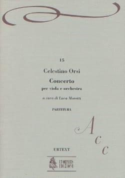 Celestino Orsi - Concerto per viola e orch. – Partitura - Partition - di-arezzo.fr