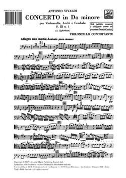 VIVALDI - Concerto in C - F. 3 n ° 1 - Equipment - Sheet Music - di-arezzo.com