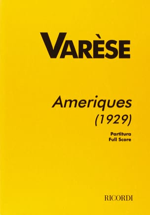 Edgard Varèse - Americas 1929 - Partitur - Sheet Music - di-arezzo.co.uk