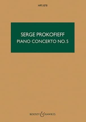 Serge Prokofiev - Concierto Piano n ° 5 op. 55 - Puntuación - Partitura - di-arezzo.es