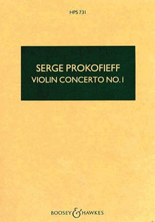 Serge Prokofiev - Violin Concerto No. 1 op. 19 - Score - Sheet Music - di-arezzo.co.uk