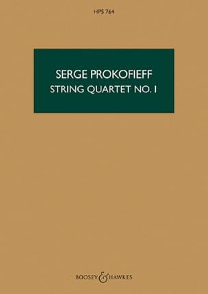 Serge Prokofiev - Cuarteto de cuerdas n ° 1 op. 50 - Puntuación - Partition - di-arezzo.es