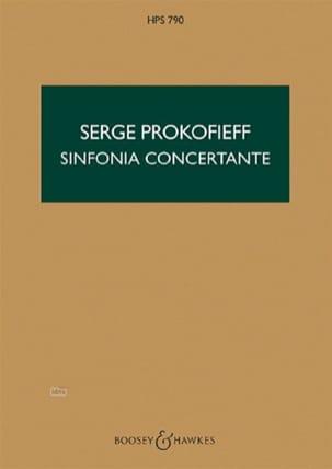 Symphonie concertante op. 125 - Score Serge Prokofiev laflutedepan