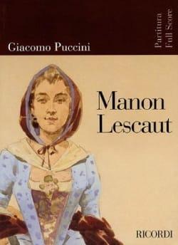 Manon Lescaut - Score - PUCCINI - Partition - laflutedepan.com