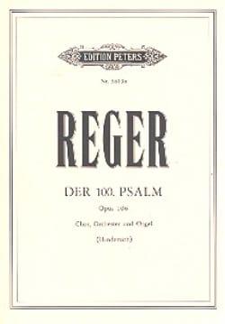 Max Reger - Psalm Nr. 100 op. 106 – Partitur - Partition - di-arezzo.fr