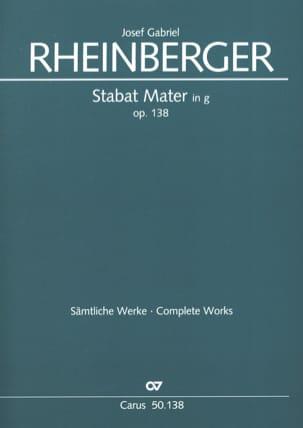 Joseph Rheinberger - Stabat Mater g-Moll op. 138 – Partitur - Partition - di-arezzo.fr