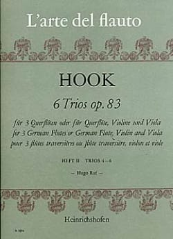 James Hook - 6 Trios op. 83 Heft 2 - 3 Flöten - Partition - di-arezzo.fr