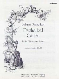Johann Pachelbel - Canon - Clarinette et Piano - Partition - di-arezzo.fr